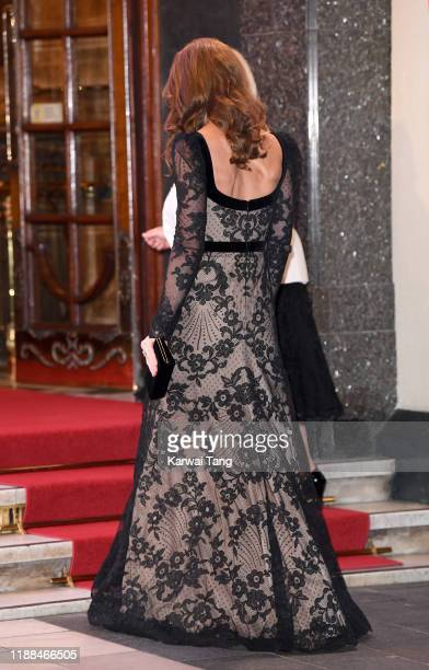 Catherine Duchess of Cambridge attends the Royal Variety Performance with Prince William Duke of Cambridge at Palladium Theatre on November 18 2019...