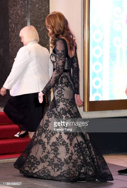 Catherine, Duchess of Cambridge attends the Royal Variety Performance with Prince William, Duke of Cambridge at Palladium Theatre on November 18,...