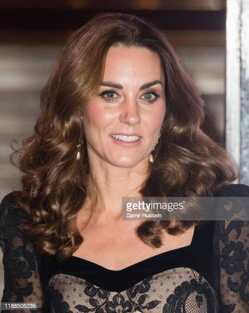 Catherine, Duchess of Cambridge attends the Royal Variety Performance at Palladium Theatre on November 18, 2019 in London, England.