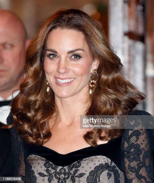 Catherine, Duchess of Cambridge attends the Royal Variety Performance at the Palladium Theatre on November 18, 2019 in London, England.