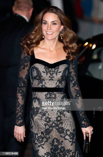 Catherine Duchess of Cambridge attends the Royal Variety Performance at the Palladium Theatre on November 18 2019 in London England