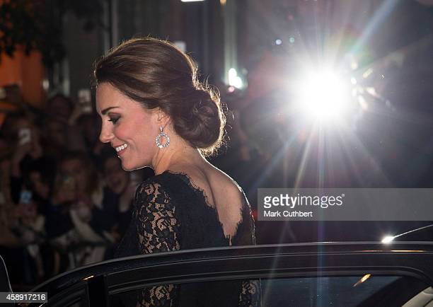 Catherine Duchess of Cambridge attends the Royal Variety Performance at London Palladium on November 13 2014 in London England