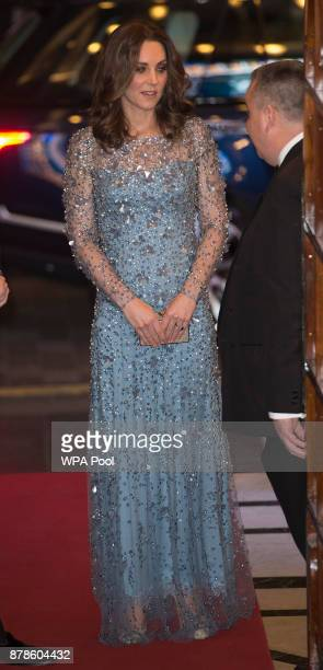 Catherine Duchess of Cambridge attends the Royal Variety Performance at the Palladium Theatre on November November 24 2017 in London England The...