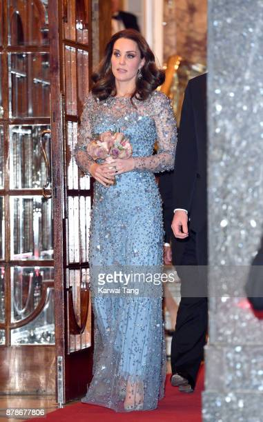 Catherine Duchess of Cambridge attends the Royal Variety Performance at the Palladium Theatre on November 24 2017 in London England