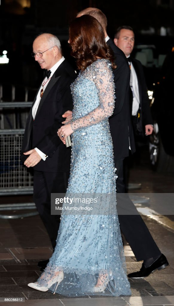 Catherine, Duchess of Cambridge attends the Royal Variety Performance at the Palladium Theatre on November 24, 2017 in London, England.