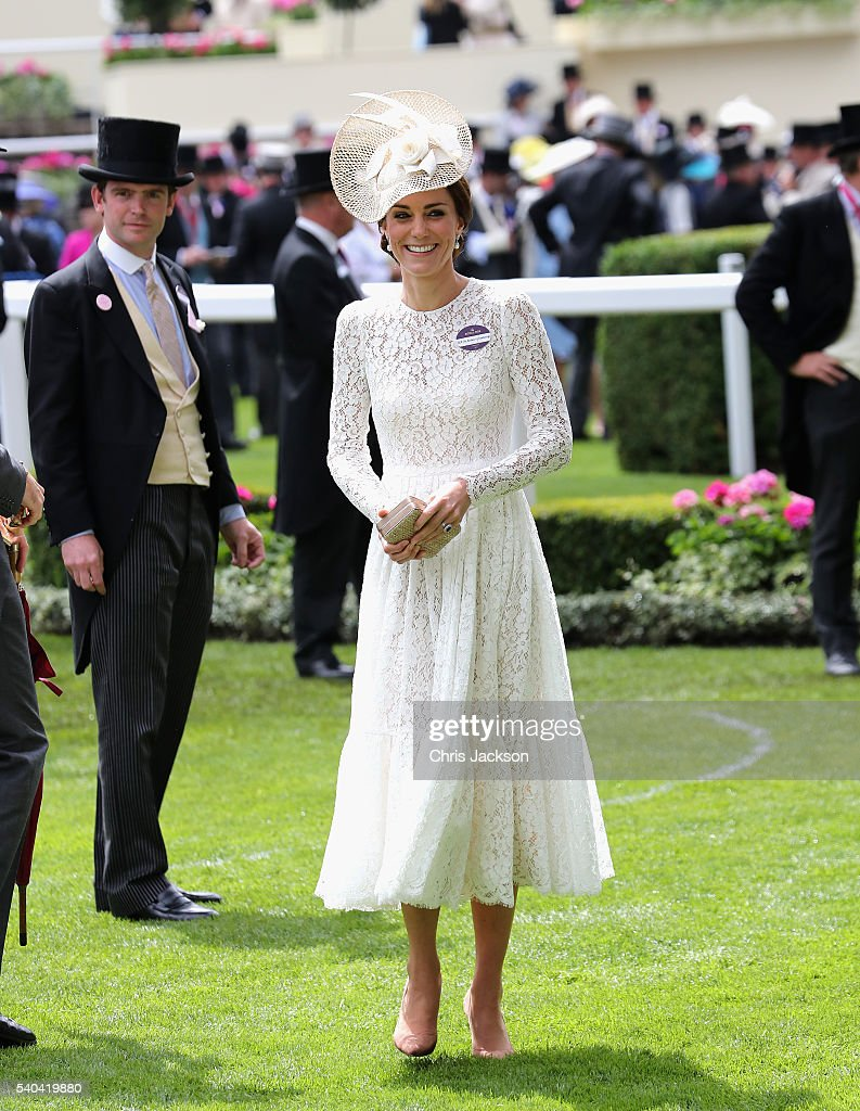 Catherine, Duchess of Cambridge attends the second day of Royal Ascot at Ascot Racecourse on June 15, 2016 in Ascot, England.