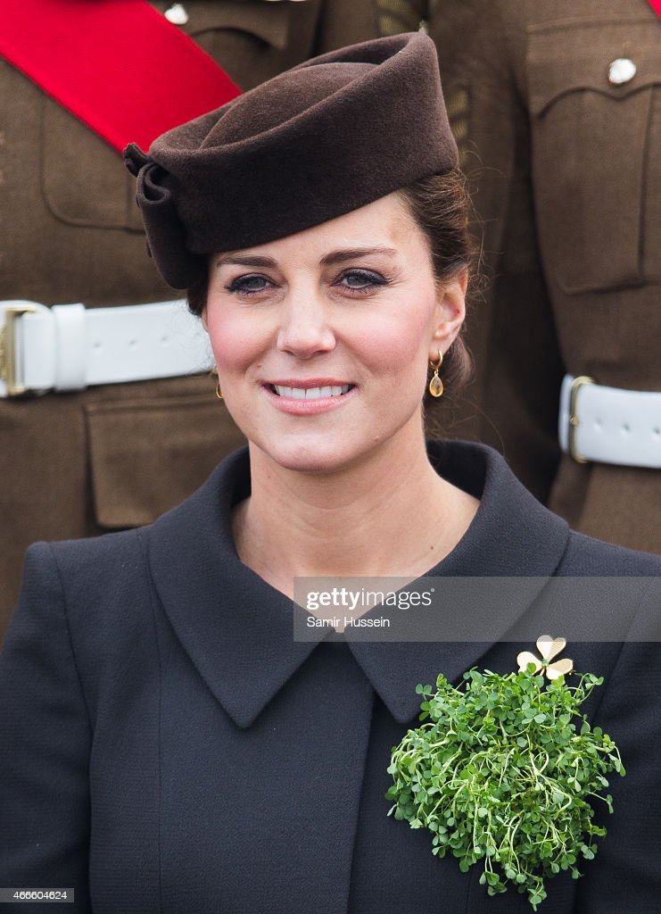 The Duke And Duchess Of Cambridge Attend St Patrick's Day Parade At Mons Barracks : News Photo