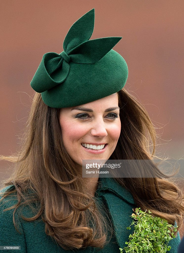 The Duke And Duchess Of Cambridge Attend The St Patrick's Day Parade At Mons Barracks, Aldershot : News Photo