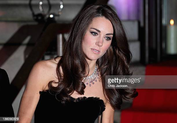 Catherine Duchess of Cambridge attends the Sun Military Awards at the Imperial War Museum on December 19 2011 in London England