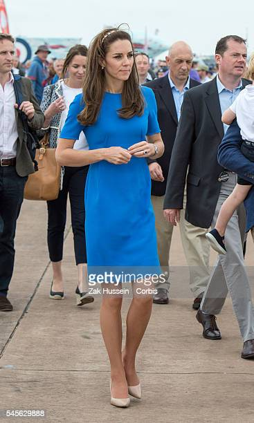 Catherine Duchess of Cambridge attends the The Royal International Air Tattoo at RAF Fairford on July 8 2016 in Fairford England