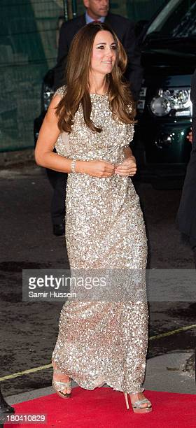 Catherine Duchess of Cambridge attends the Tusk Trust Conservation Awards at The Royal Society on September 12 2013 in London England