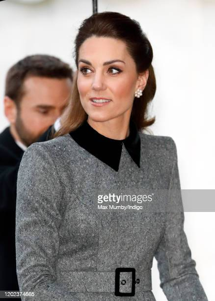 Catherine Duchess of Cambridge attends the UK Holocaust Memorial Day Commemorative Ceremony at Central Hall Westminster on January 27 2020 in London...