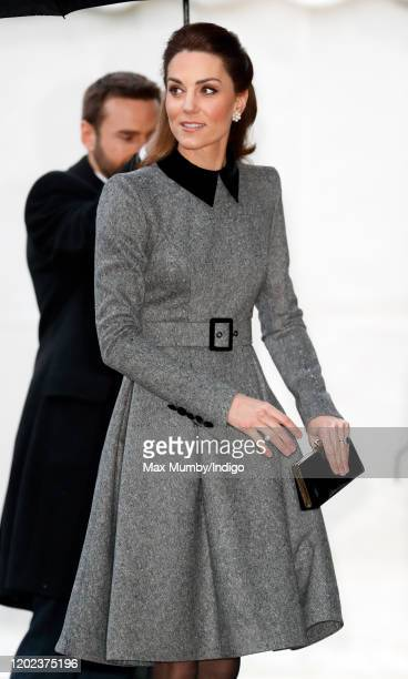 Catherine, Duchess of Cambridge attends the UK Holocaust Memorial Day Commemorative Ceremony at Central Hall Westminster on January 27, 2020 in...