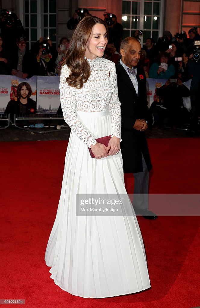 The Duchess Of Cambridge Attends UK Premiere Of 'A Street Cat Named Bob' In Aid Of Action On Addiction : News Photo