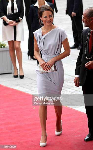 Catherine Duchess of Cambridge attends the UK's Creative Industries Reception at Royal Academy of Arts on July 30 2012 in London England