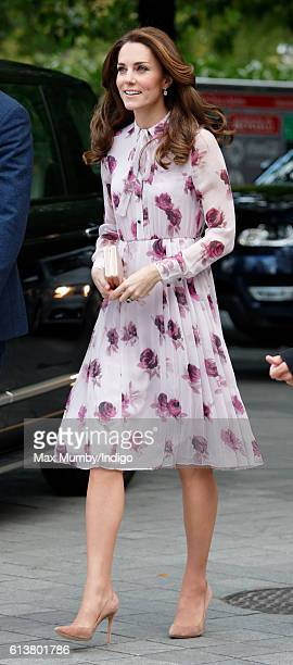 Catherine Duchess of Cambridge attends the World Mental Health Day celebration with Heads Together at the London Eye on October 10 2016 in London...