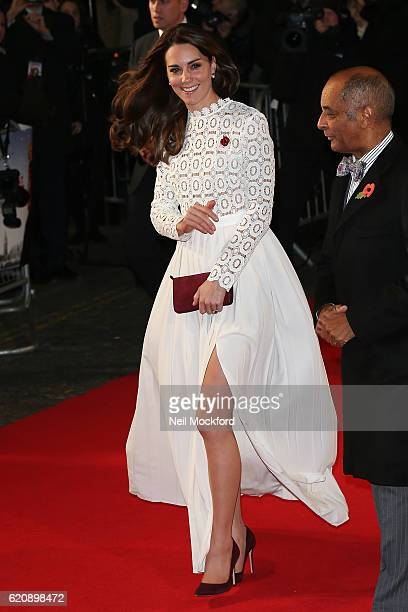Catherine Duchess Of Cambridge attends UK Premiere of 'A Street Cat Named Bob' in aid of Action On Addiction on November 3 2016 in London England