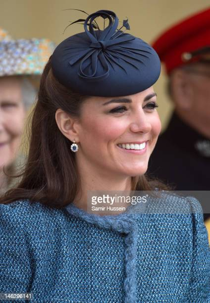 Catherine, Duchess of Cambridge attends Vernon Park during a Diamond Jubilee visit to Nottingham on June 13, 2012 in Nottingham, England.