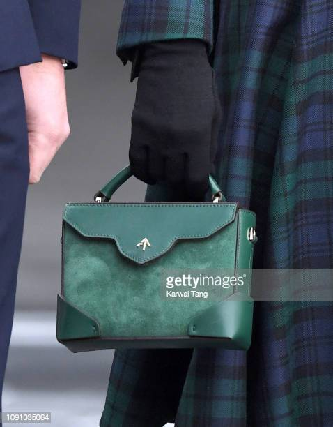 Catherine Duchess of Cambridge bag detail officially opens VA Dundee and greet members of the public on the waterfront on January 29 2019 in Dundee...