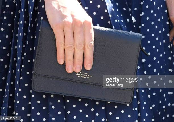 Catherine Duchess of Cambridge bag detail visits the DDay exhibition at Bletchley Park on May 14 2019 in Bletchley England The DDay exhibition marks...