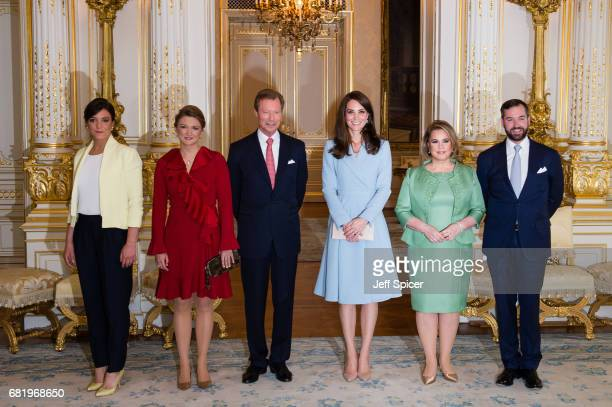 Catherine Duchess of Cambridge calls on Their Royal Highnesses Grand Duke Henri of Luxembourg Grand Duchess Maria Teresa of Luxembourg Princess...