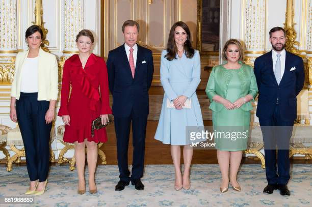 Catherine, Duchess of Cambridge calls on Their Royal Highnesses Grand Duke Henri of Luxembourg , Grand Duchess Maria Teresa of Luxembourg , Princess...