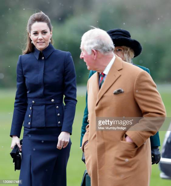 Catherine, Duchess of Cambridge, Camilla, Duchess of Cornwall and Prince Charles, Prince of Wales visit the Defence Medical Rehabilitation Centre...