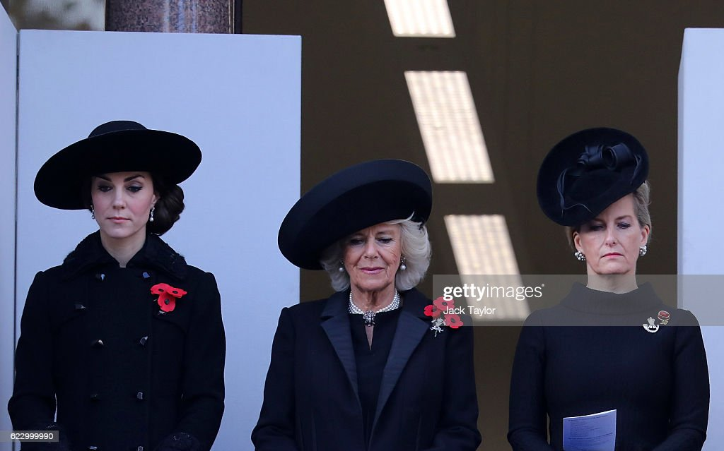 The Royal Family Lay Wreaths At The Cenotaph On Remembrance Sunday : News Photo