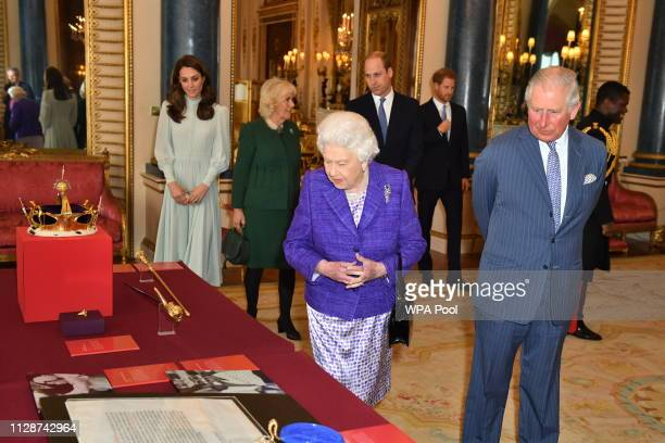 Catherine, Duchess of Cambridge, Camilla, Duchess of Cornwall, Prince William, Duke of Cambridge, Prince Harry, Duke of Sussex, Queen Elizabeth II...