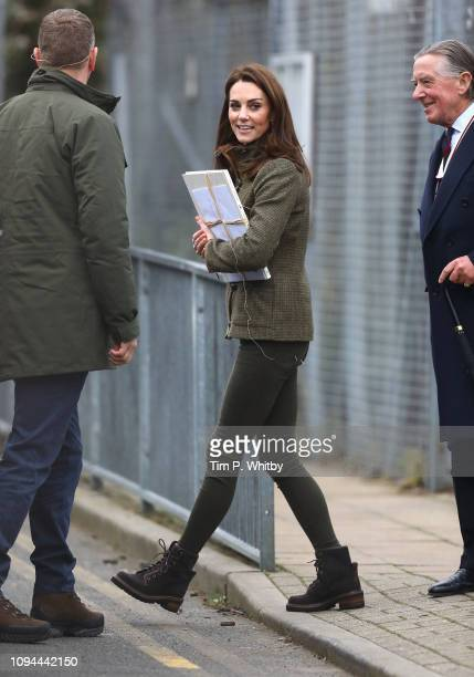Catherine Duchess of Cambridge departs after a visit to Islington Community Garden on January 15 2019 in London England