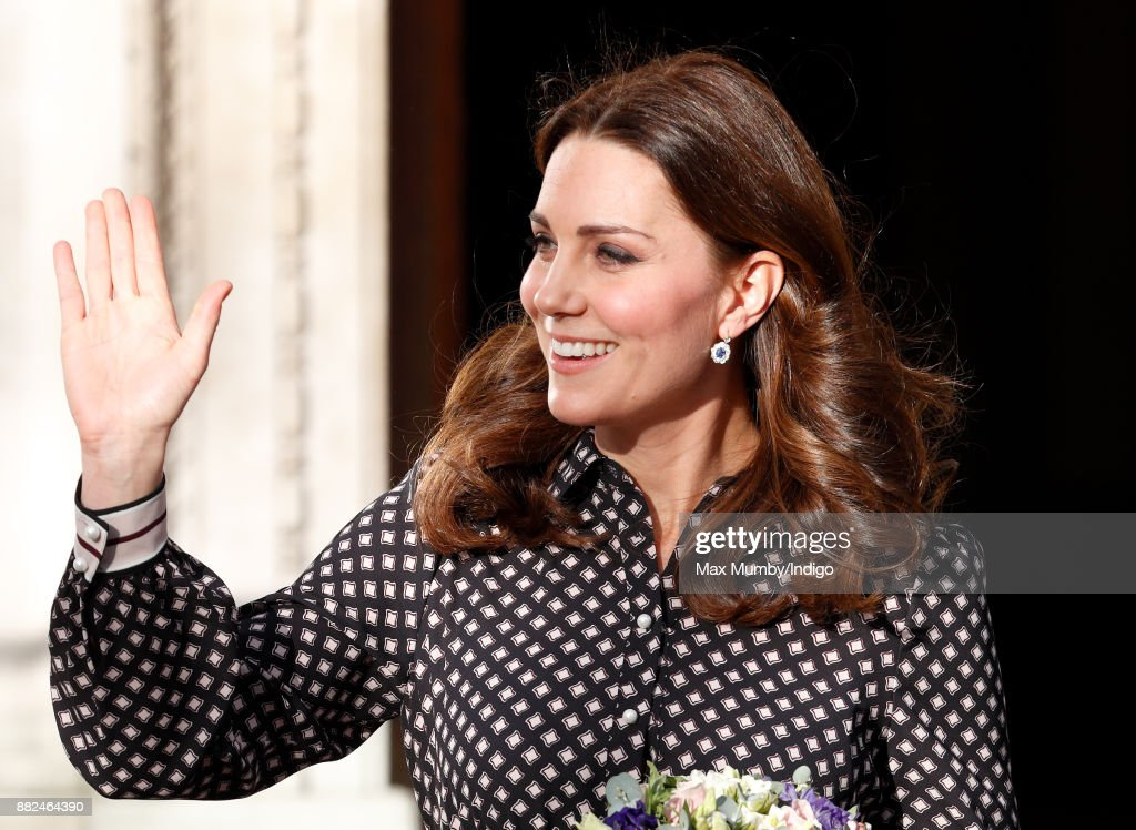 Catherine, Duchess of Cambridge departs after a visit to The Foundling Museum on November 28, 2017 in London, England.