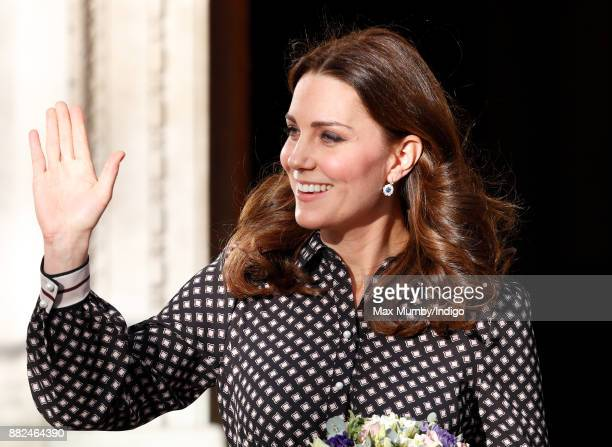 Catherine Duchess of Cambridge departs after a visit to The Foundling Museum on November 28 2017 in London England