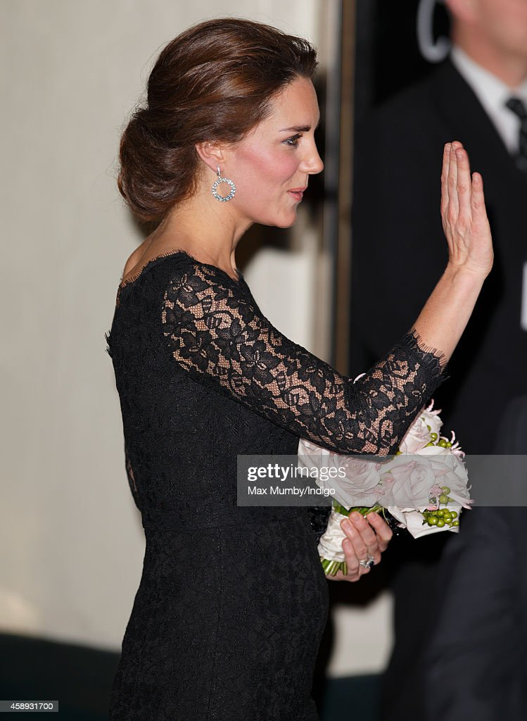 Catherine, Duchess of Cambridge departs after attending the Royal Variety Performance at the London Palladium on November 13, 2014 in London, England.
