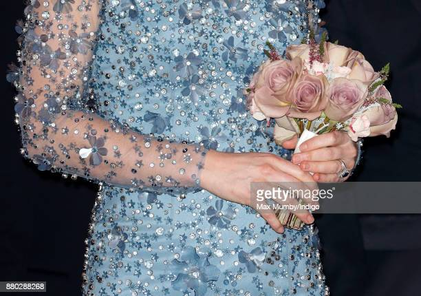 Catherine Duchess of Cambridge departs after attending the Royal Variety Performance at the Palladium Theatre on November 24 2017 in London England
