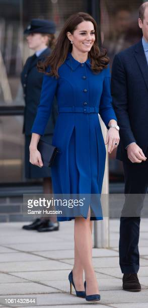 Catherine Duchess of Cambridge departs after officially opening McLaren AutomotiveÕs new Composites Technology Centre on November 14 2018 in...