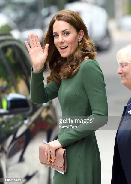 Catherine, Duchess of Cambridge departs after officially opening the new Centre of Excellence at Anna Freud Centre on May 01, 2019 in London,...