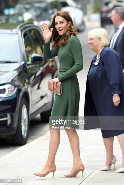 Catherine Duchess of Cambridge departs after officially opening the new Centre of Excellence at Anna Freud Centre on May 01 2019 in London England...