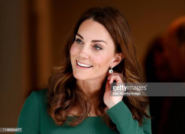 Catherine, Duchess of Cambridge departs after officially opening the new Anna Freud Centre Of Excellence on May 1, 2019 in London, England. The...
