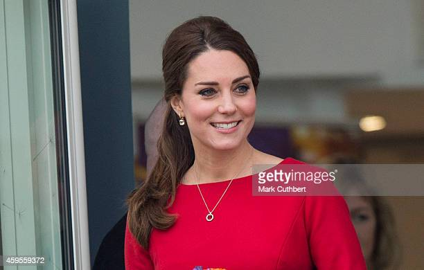 Catherine Duchess of Cambridge departs after the East Anglia's Children's Hospices appeal launch at Norfolk Showground on November 25 2014 in Norwich...