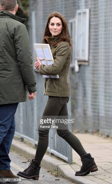Catherine Duchess of Cambridge departs after visiting King Henry's Walk Garden on January 15 2019 in London United Kingdom