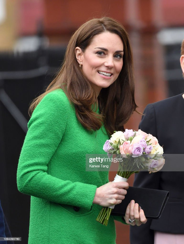 GBR: The Duchess Of Cambridge Visits Schools In Support Of Children's Mental Health