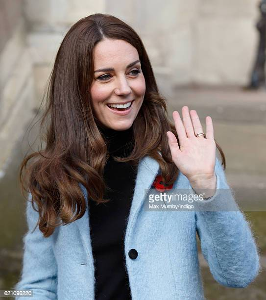 Catherine Duchess of Cambridge departs after visiting the Nelson Trust Women's Centre on November 4 2016 in Gloucester England