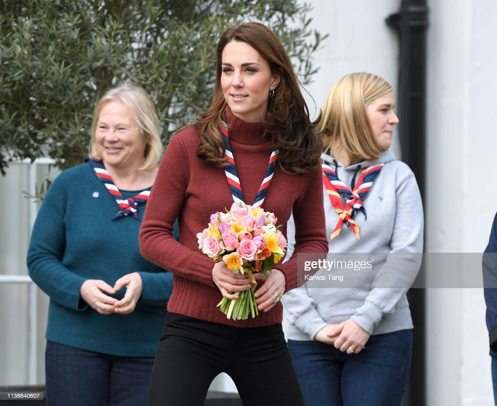 The Duchess Of Cambridge Visits The Scout's Early Years Pilot At Gilwell Park : News Photo