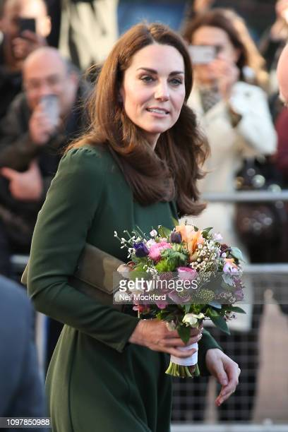 Catherine Duchess of Cambridge departs from Family Action on January 22 2019 in Lewisham England