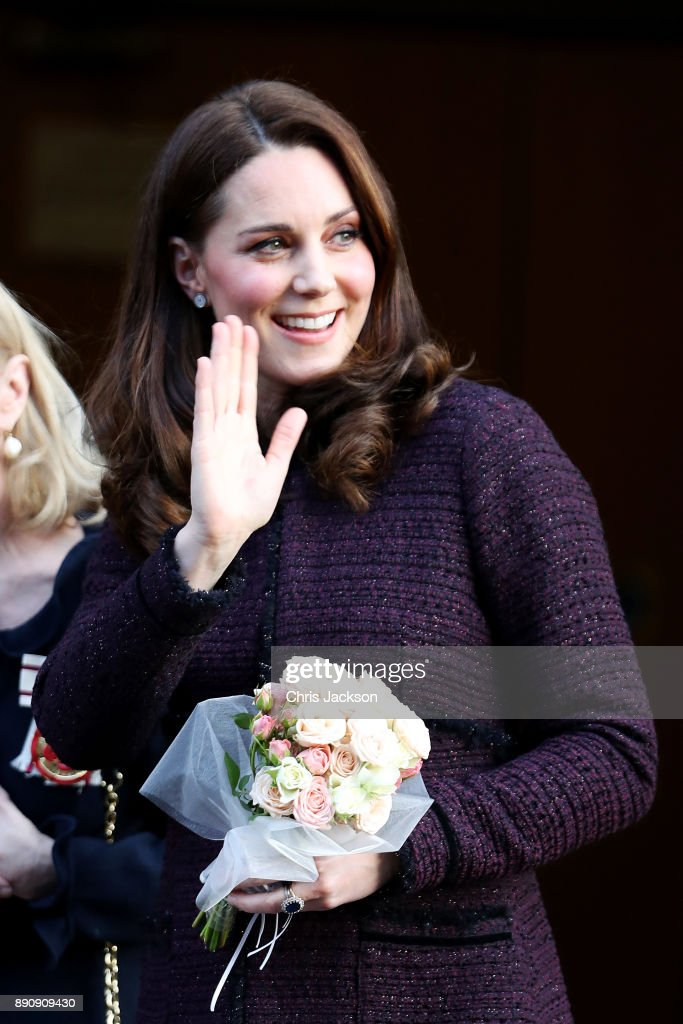Catherine, Duchess of Cambridge departs from the 'Magic Mums' community Christmas party held at Rugby Portobello Trust on December 12, 2017 in London, England. The Rugby Portobello Trust in North Kensington is part of a network of centre that help local communities and provides support by running programmes for children and parents such as homework clubs, sporting activities, social groups and tuition.