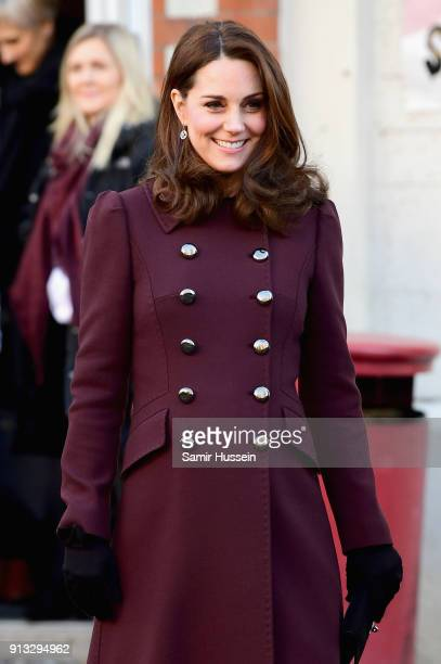 Catherine Duchess of Cambridge departs Hartvig Nissen School the location for the successful Norwegian television programme 'Skam' with Prince...