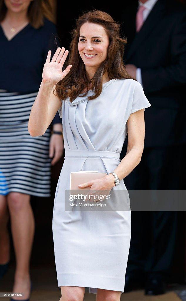 Catherine, Duchess of Cambridge departs Spencer House after attending a lunch in aid of The Anna Freud Centre on May 4, 2016 in London, England.