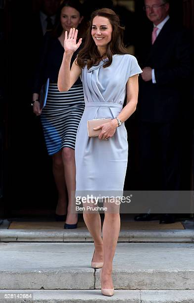 Catherine Duchess of Cambridge departs the Anna Freud Centre on May 4 2016 in London England