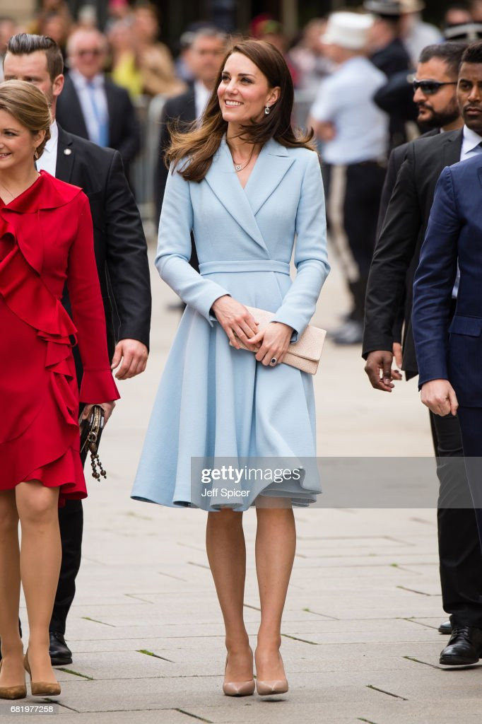 Catherine, Duchess of Cambridge during a one day visit to Luxembourg at Palais Grand Ducale on May 11, 2017 in Luxembourg, Luxembourg.