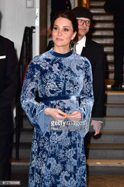 Catherine Duchess of Cambridge during a reception to celebrate Swedish culture at the Fotografiska Gallery on day two of their royal visit to Sweden...